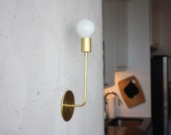 Brass wall sconce - Evelyn - Solid brass modern light