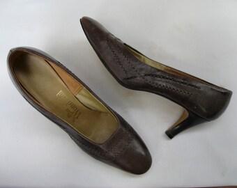 Vintage 50s gray pumps, Miss Wonderful pumps, stiletto pumps