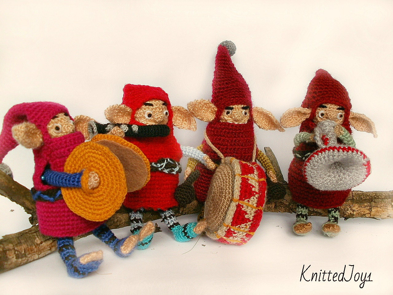 Funny Gnomes: Funny Gnomes Crochet Cartoon Gnome Doll Dwarves Set Of 4