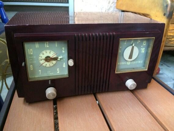 general electric radio radio r veil vintage radio am table. Black Bedroom Furniture Sets. Home Design Ideas