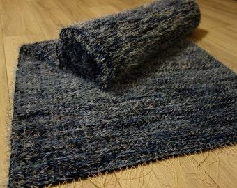 woven rug large woven rag shaggy rug wool rugs handmade woven rug - Shaggy Rug