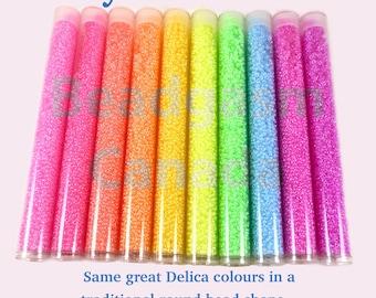 Luminous Neon Miyuki Rounds Bead Collection 220 grams size 11/0