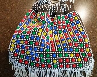 Vintage 1960-70s Beaded Bag