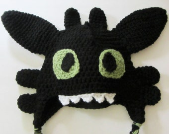 Toothless How to Train Your Dragon Crochet Hat/Made to Order
