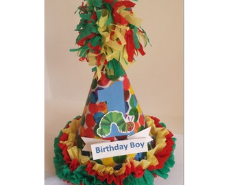 1st Birthday Custom Made Hungry Caterpillar Party Hat