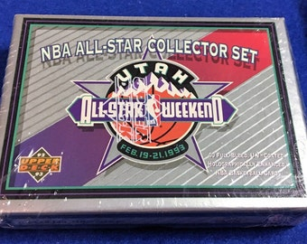 Unopened NBA All Star Collector's Set 40 Cards Upper Deck 1992-93 Michael Jordan, Wilt Chamberlain & More