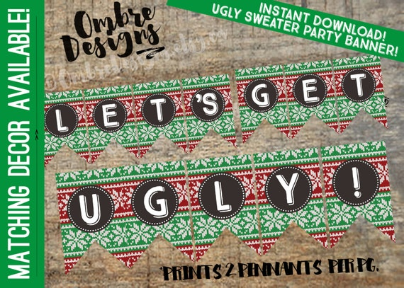 Ugly Sweater Banner