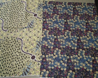 2 Fat Quarter, Dreamtime - Australia fabrics