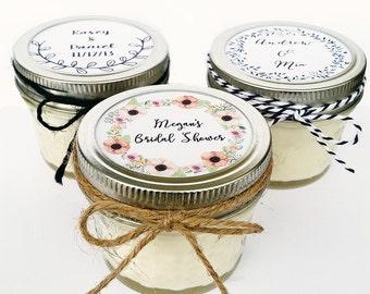 25 Wedding Favor Candles   Mason Jar Favors   Rustic Favors   Wedding Favors   Custom Wedding Favor   Baby Shower Favor   Wedding Candle