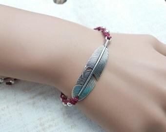 Feather Cord Bracelet, Friendship Bracelet, String, Surfer, Layering Bracelet - Macrame Bracelets- UK Seller