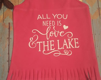 Youth tank top love & the lake