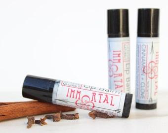 Organic Lip Balm - Natural Beeswax Lip Balm - Medicated Lip balm - Winter Lip butter - Cinnamon Clove Essential Oils - Cold Weather Lip Care