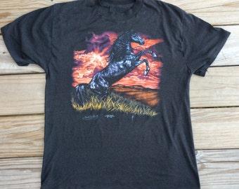 3-D Emblem Always Sunny in Philadelphia -- Charlies Horse T Shirt -- NOT a reprint, actual authentic vintage  Large 1990