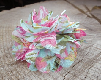 Floral Fabric Hair Clip ~1 pieces #100747