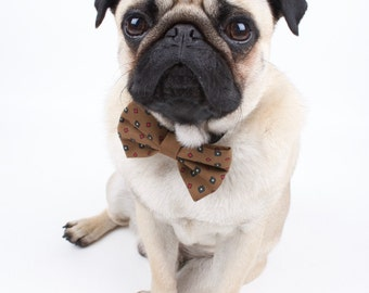 handmade recycled vintage pet bow tie