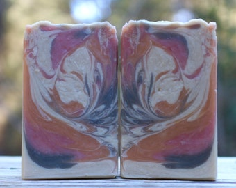 Plumeria Handmade Soap with Goat Milk, Oatmeal, Shea Butter, Natural Soap, Moisturizing Soap