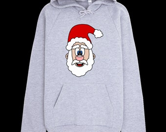 Christmas Sweatshirt - Cute Santa Claus Christmas Hoodie