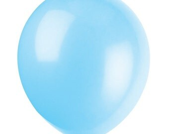 """12"""" Light Blue BALLOONS, Baby Shower, Wedding Decor, Bridal Shower, Birthday Party, Birthday Party Supplies, Party Supplies"""