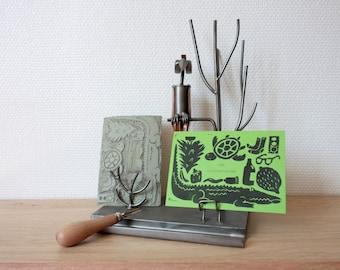 "Green birthday card - ""Good banned-green-saire"""