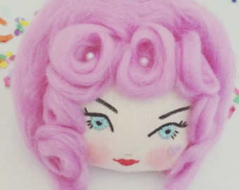 Doll face corsage. Marie Antoinette. In The Pink.