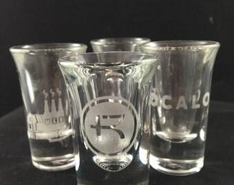 Custom Shot Glass Set of 4