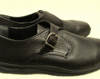 Men's,Mod Vintage 80's,Mod Dark Brown BUCKLE Shoes By RED WING.11