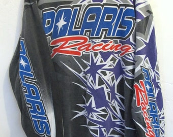 A Vintage 80's,Long Sleeve POLARIS Racing T Shirt.XL