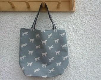 Border Terrier tote bag short handles