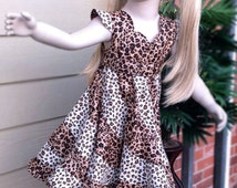 Wild Animal Cheetha Swirl Twirl Dress. Casual Pageant wear. Size 4