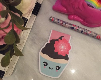 Kawaii cutie cake - magnetic bookmarks
