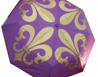 FLEUR DE LIS (Purple and Gold) Umbrella