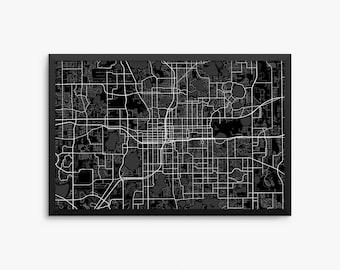 Orlando City Street Map Orlando Florida Usa Modern Art Print Office Decor