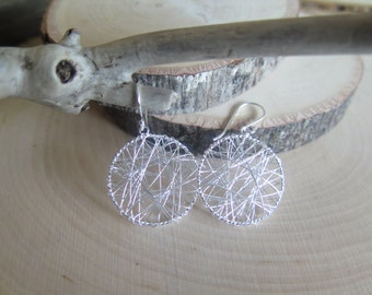 Lightweight sterling silver wire earrings