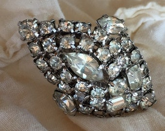 Vintage Rhinestone Clip, Wedding Accessory