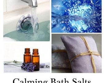 Calming Bath Salts, Comfort Bath Salts, Calmness of Mind Bath Salts - - 16oz Bag