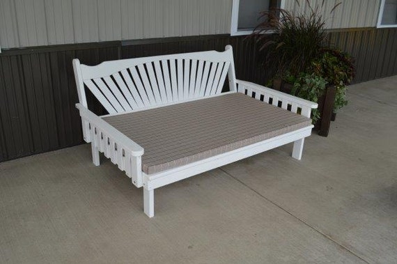 Daybeds Made In The Usa : Pine foot fanback daybed unfinished handmade amish