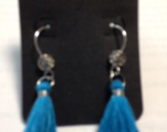 Tassel Earrings - Royal Blue