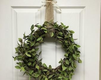 Leafy Wreath, Green Leaf Wreath