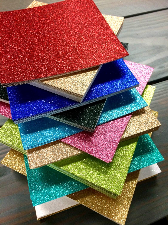 15 Glitter Cardstock Paper 12x12