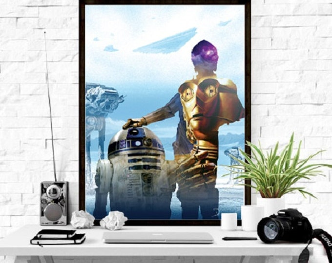 Printable Poster - C-3PO/ Star Wars Digital Print / Star Wars Poster / Star Wars Digital Print / Star Wars Wall Art / Cinema Poster