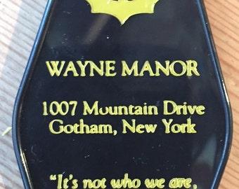 Batman Inspired WAYNE MANOR keytag