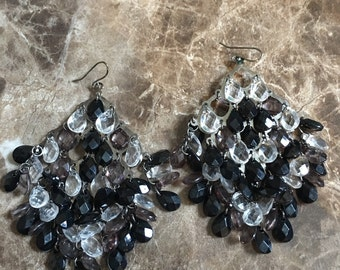 Handcrafted Cluster Chandelier Earrings