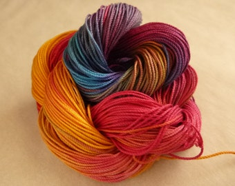 """Hand dyed cotton thread, HDT, Size 10, 15, 20, 40, 50, 70, multycolor,HDT, tatting, crochet, lacemaking, craft thread, """"Magic"""""""