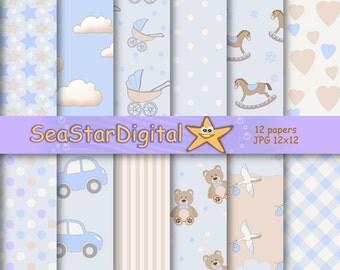 Blue baby paper,blue boy paper,blue baby digital,blue boy digital,blue baby download,blue baby boy paper,blue boy download,paper baby blue
