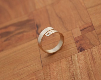 Simple Bronze Wrap Ring