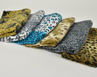 Fleece Cat Mats Leopard Prints