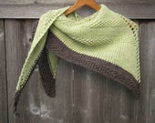 Green Shawl | Merino Wool Shawl | Knit Shawl | Handmade Shawl | Natural Gift | Unique Gifts | Handmade Gifts | Shawls | Women's Accessories