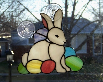 Easter Bunny Suncatcher Stained Glass