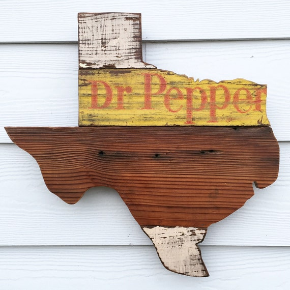 Ratings Feedback For Gavan Wood Painting Decorating: Reclaimed Wood Dr Pepper Texas Sign Rustic State Outline