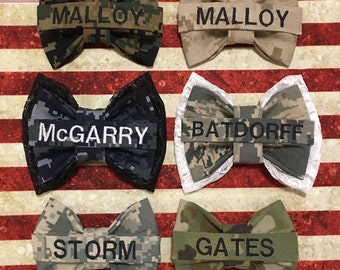 Nametape Bows- Military Bows- Marine Bow- Army Bow- Airforce Bow- Navy Bow